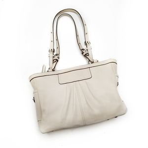 Coach East West Gallery Leather Tote Satchel Purse